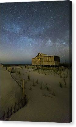 Starry Skies And Milky Way At Nj Shore Canvas Print by Susan Candelario