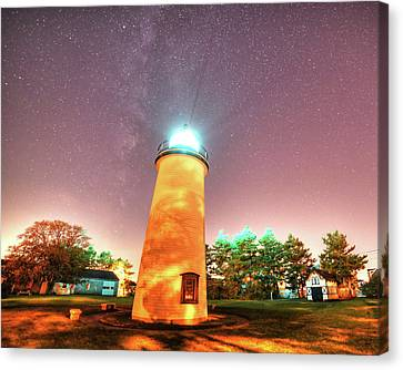 Starry Sky Over The Newburyport Harbor Light Canvas Print by Toby McGuire