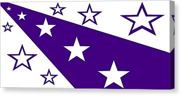 'stars 21' Or 'purple Stars' Canvas Print