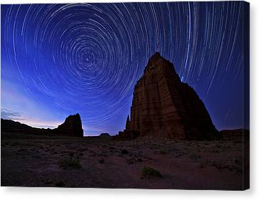 Night Canvas Print - Stars Above The Moon by Chad Dutson