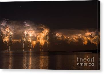 Stars And Bolts Canvas Print