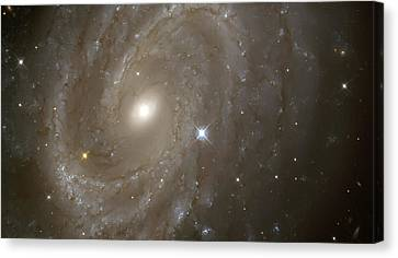 Stars And Spiral Galaxy Canvas Print by Jennifer Rondinelli Reilly - Fine Art Photography