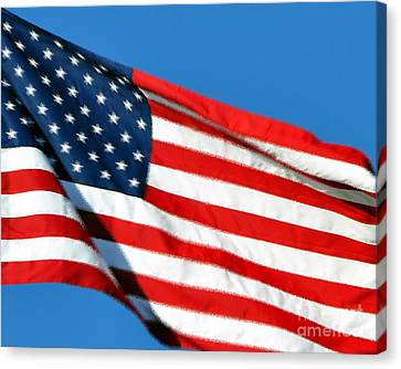 Stars And Stripes Canvas Print by Al Powell Photography USA