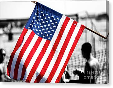Canvas Print - Stars And Stripes At Asbury Park by John Rizzuto