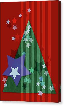 Susann Serfezi Canvas Print - Stars And Stripes - Christmas Edition by AugenWerk Susann Serfezi