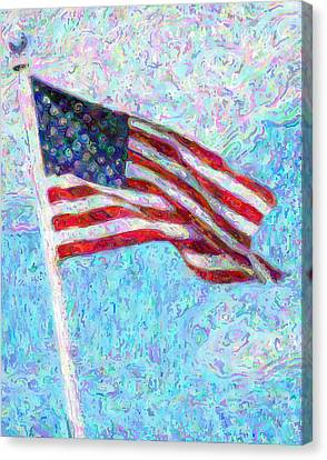 Impressionist Canvas Print - Stars And Stripes by Colleen Kammerer