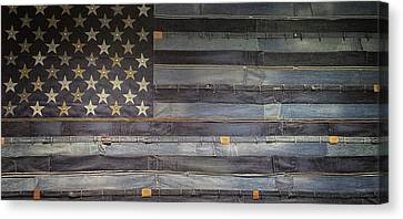 Stars And Stripes Canvas Print by Martin Newman