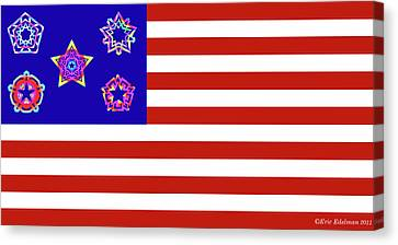 Stars And Stripes Of Retrocollage Canvas Print by Eric Edelman