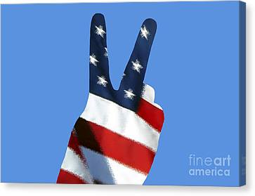 Stars And Stripes Peace Sign .png Canvas Print by Al Powell Photography USA