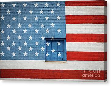 Stars And Stripes Wall Canvas Print by Inge Johnsson