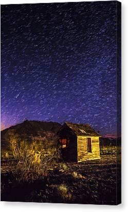 Stars At Death Valley II Canvas Print by Jon Glaser