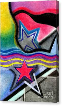 Canvas Print featuring the pastel Stars by Christine Perry