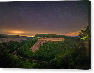 Canvas Print featuring the photograph Stars Over Great Bend by Mark Papke