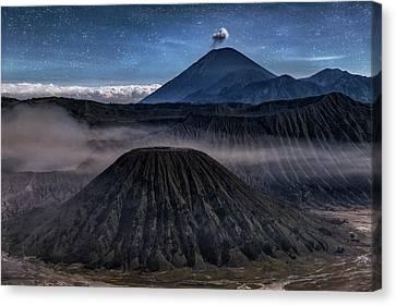 stars over Mount Bromo - Java Canvas Print by Joana Kruse