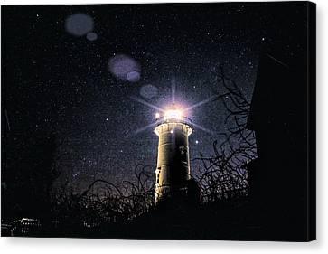 Stars Over Nobska Lighthouse Canvas Print