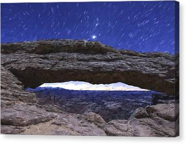 Stars Over The Land II Canvas Print by Jon Glaser