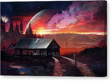 Planets Canvas Print - Stars Planet Home by Mery Moon