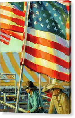 Stars, Stripes, And Cowboys Forever Canvas Print