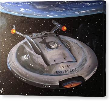 Starship Enterprise Canvas Print by Rita Tortorelli