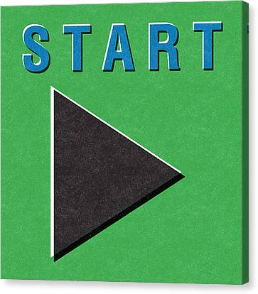 Start Button Canvas Print by Linda Woods