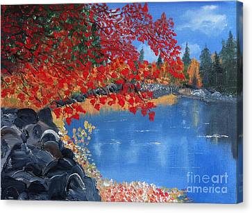Start Of Fall Canvas Print by Rod Jellison