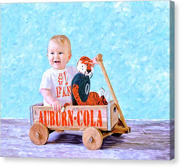 Wagon Canvas Print - Start Them Young by Mark Tisdale
