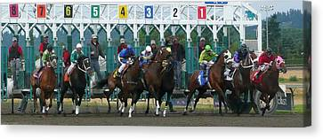 Starting Gate Canvas Print