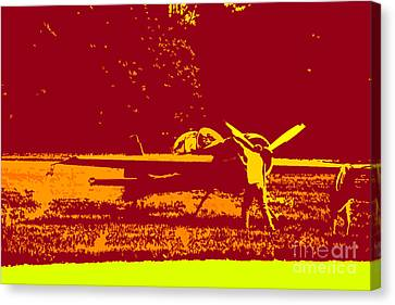 Starting Up A Plane 2 Canvas Print by Chris  Taggart