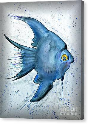 Startled Fish Canvas Print