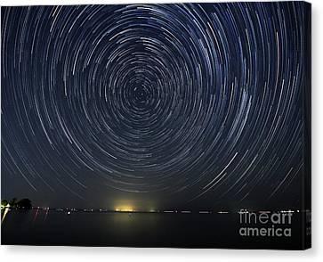 Startrails Around Polaris Canvas Print