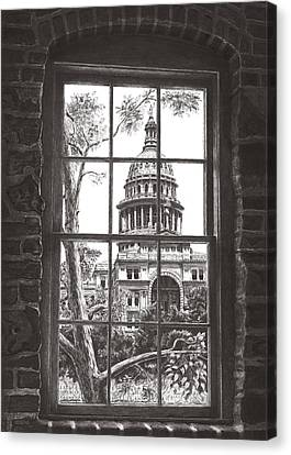 State Capitol Of Texas Canvas Print by Norman Bean