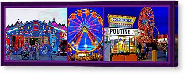 State Fair Triptych 2 Canvas Print by Steve Ohlsen