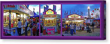 State Fair Triptych Canvas Print by Steve Ohlsen
