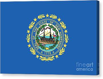 State Flag Of New Hampshire Canvas Print by American School