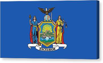 State Flag Of New York Canvas Print