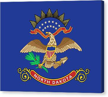 State Flag Of North Dakota Canvas Print by American School