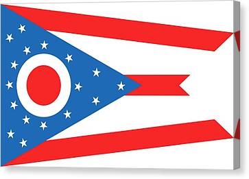 State Flag Of Ohio Canvas Print