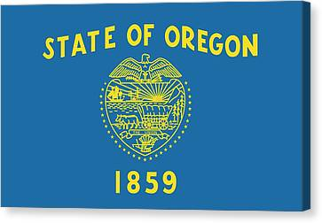 State Flag Of Oregon Canvas Print by American School