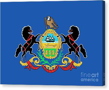 State Flag Of Pennsylvania Canvas Print by American School