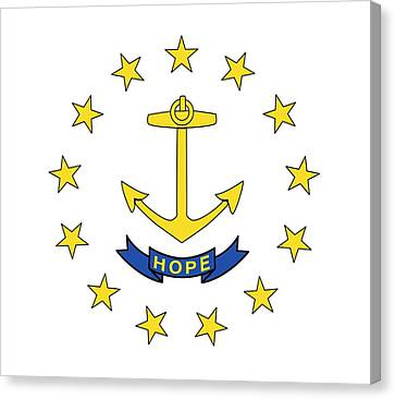 State Of Rhode Island Canvas Print - State Flag Of Rhode Island by American School