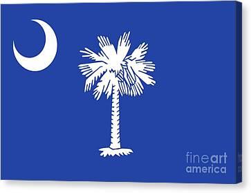 State Flag Of South Carolina Canvas Print