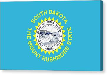 State Flag Of South Dakota Canvas Print by American School