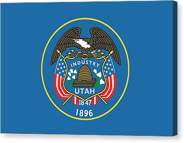 State Flag Of Utah Canvas Print by American School
