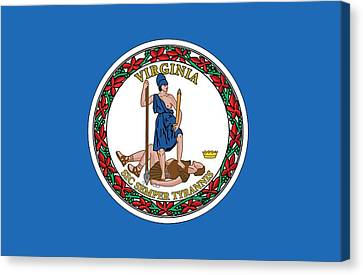 State Flag Of Virginia Canvas Print by American School
