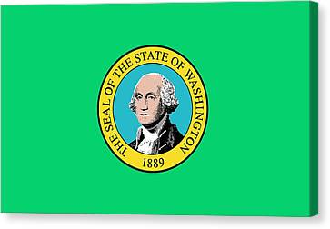 State Flag Of Washington Canvas Print by American School