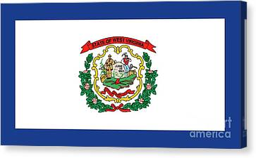 State Flag Of West Virginia Canvas Print by American School