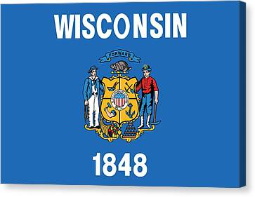 State Flag Of Wisconsin Canvas Print