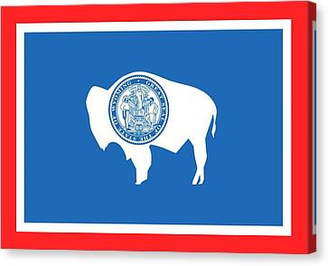 State Flag Of Wyoming Canvas Print by American School