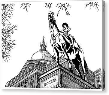 State House, Boston, Ma Canvas Print by Conor Plunkett
