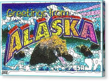 State Of Alaska Canvas Print